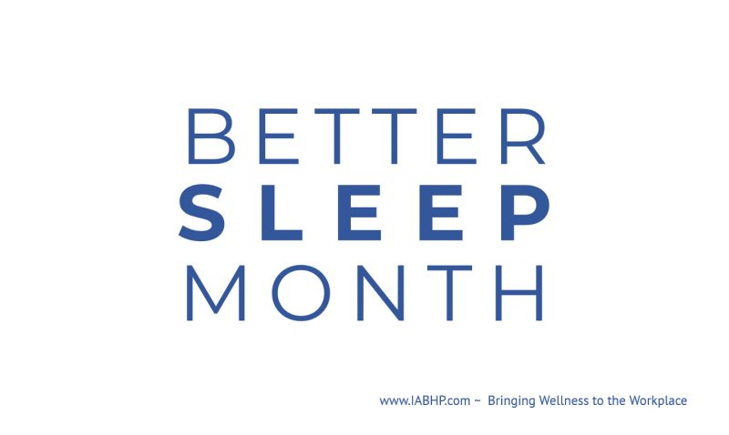 Better Sleep Month
